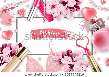 Inciler boncuk kozmetik çiçek beyaz kadın Stok fotoğraf © caimacanul