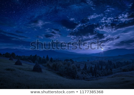 Moon rising on night sky Stock photo © vapi