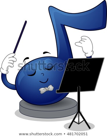 Music Note Mascot Conductor Stock photo © lenm