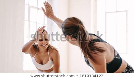 фитнес инструктор ярко фотография белый женщину Сток-фото © dolgachov