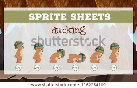 Bear sprite sheets ducking Stock photo © bluering