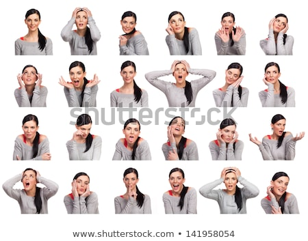 Woman Showing Angry And Happy Expression Stock photo © AndreyPopov
