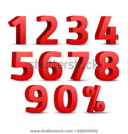 número · oito · ícone · vetor · vermelho · símbolo - foto stock © cidepix