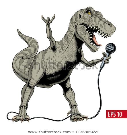 Гранж · микрофона · стиль · ретро · аннотация - Сток-фото © popaukropa
