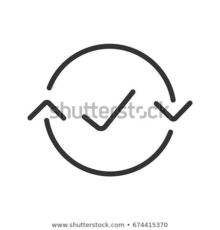 Ikon ince hat ağırlık boyut kolay Stok fotoğraf © smoki