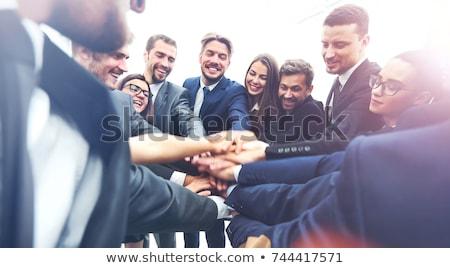 Pessoas de negócios trabalhar escritório reunião laptop grupo Foto stock © Minervastock