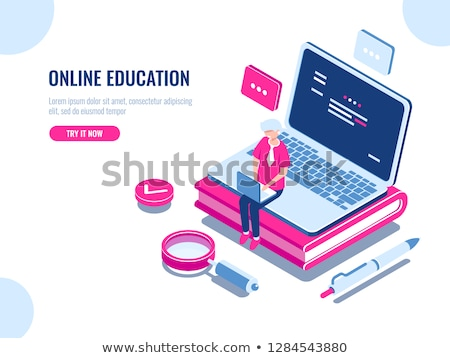 çevrimiçi eğitim Öğrenciler video Stok fotoğraf © RAStudio