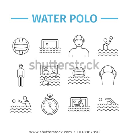 People Playing in Water Polo Vector Illustration Stock photo © robuart