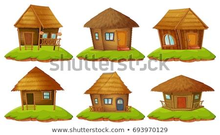 Différent dessins bois illustration bâtiment Photo stock © colematt