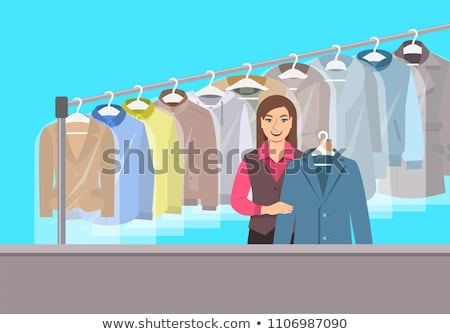 Dry cleaning and laundering concept vector illustration. Stock photo © RAStudio