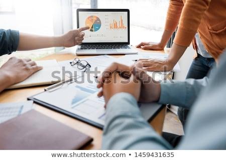 Foto stock: Negócio · criador · equipe · reunião · discutir