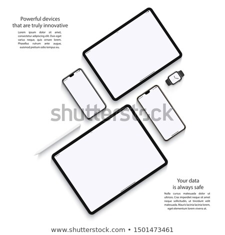 vector set of mobile device accessories Stock photo © olllikeballoon