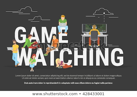 E-sport game streaming vector web banner concept. Photo stock © RAStudio