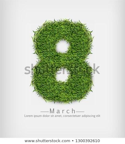 erba · verde · vettore · realistico · simbolo · segno · etichetta - foto d'archivio © frimufilms