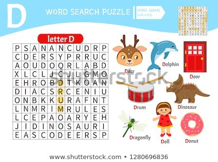 D betű rajz ajtó oktatási illusztráció ábécé Stock fotó © izakowski