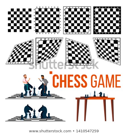 Chessboard And Character Game Player Set Vector Stock photo © pikepicture