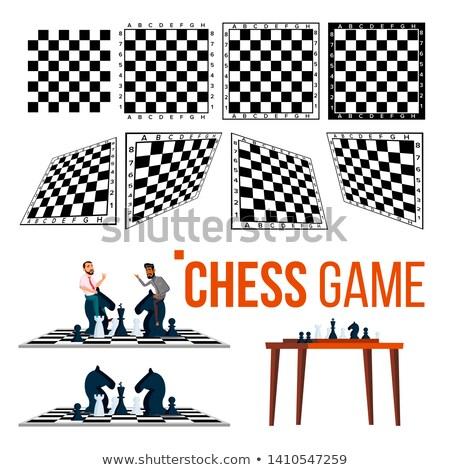 Tablero de ajedrez carácter juego jugador establecer vector Foto stock © pikepicture