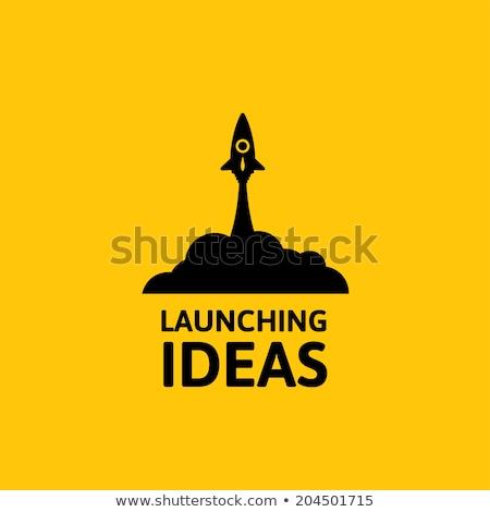 Raket business start omhoog idee geïsoleerd Stockfoto © robuart