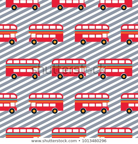 Kırmızı otobüs erkek çizgili vektör Stok fotoğraf © yopixart