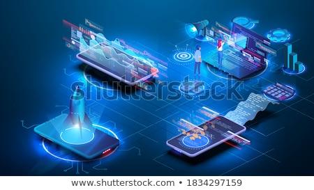интерактивный реальность компьютер человек вектора Компьютерный монитор Сток-фото © robuart