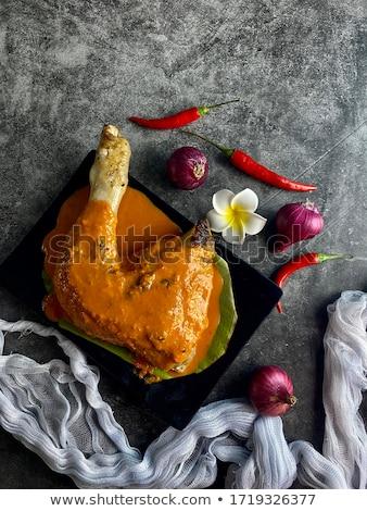 焼き鳥 伝統的な 料理 人気のある 焼き 鶏 ストックフォト © szefei