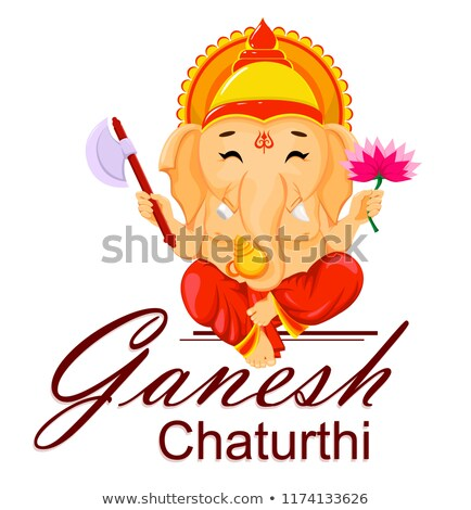 ganesh chaturthi festival greeting in flower style background stock photo © sarts