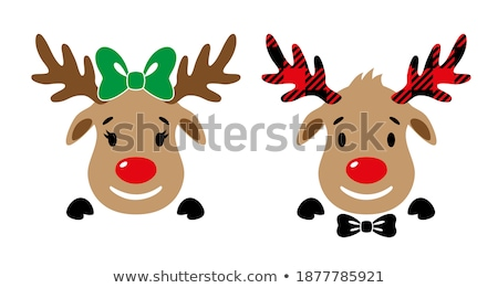 Christmas Reindeer Cartoon Character Stock photo © Krisdog