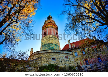 view of Cesky Krumlov castle tower Stock photo © borisb17