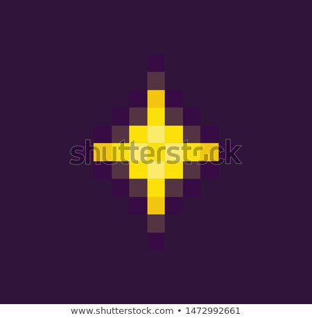 Space Pixel game, Yellow Star or Burst Vector Stock photo © robuart