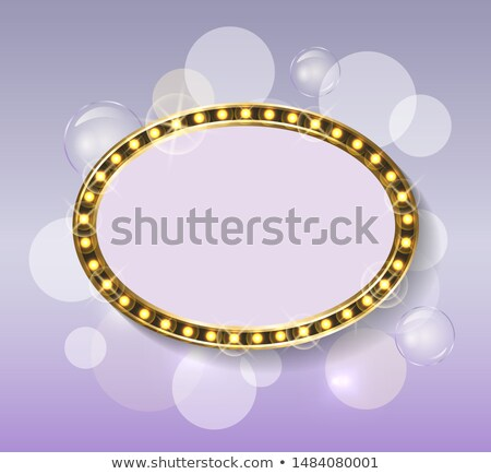 Frame and Backdrop with Glimmer, Gold Framework Stock photo © robuart