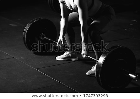 Morts ascenseur musculaire homme gymnase Photo stock © Jasminko