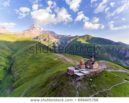 Georgië bergen natuur achtergrond rock Stockfoto © borisb17