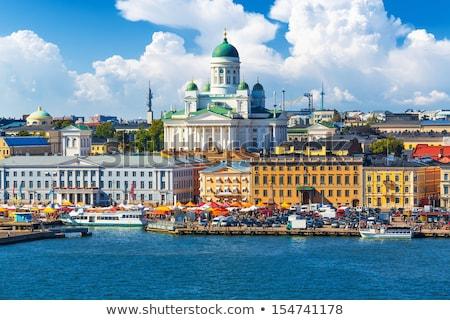 Panorama città vecchia Helsinki Finlandia albero città Foto d'archivio © ShustrikS