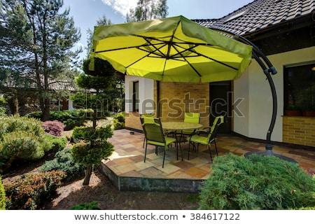 Garden umbrella with table Stock photo © montego