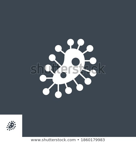 Microbe related vector glyph icon. Stock photo © smoki