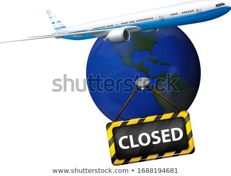 Poster design coronavirus mondo chiuso illustrazione Foto d'archivio © bluering