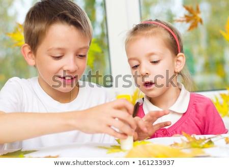 幸せ 姉妹 芸術 工芸 ホーム 家族 ストックフォト © dolgachov