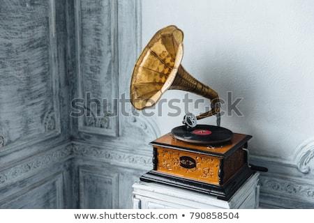 Música dispositivo velho gramofone prato vinil Foto stock © vkstudio