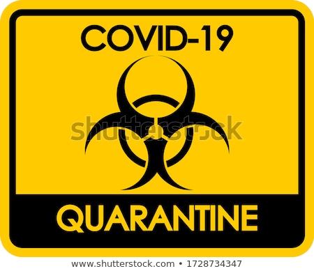 Poster design for coronavirus theme with biohazard sign Stock photo © bluering