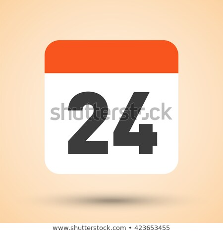 Simple black calendar icon with 24 october date isolated on white Stock photo © evgeny89
