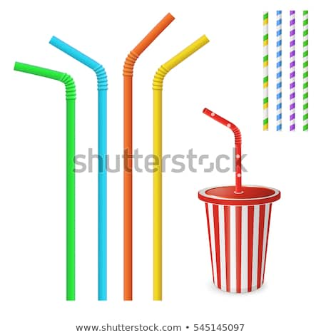 vector set of straw Stock photo © olllikeballoon
