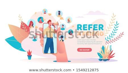 ボーナス プログラム ベクトル メタファー 贈り物 広告 ストックフォト © RAStudio
