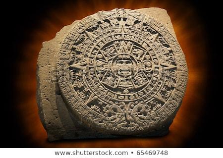Foto stock: Antigo · pedras · 17 · em · pé · pedra · céu