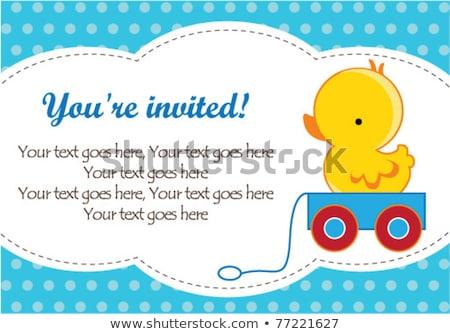 Cute rubber duck greeting card  Stock photo © adrian_n