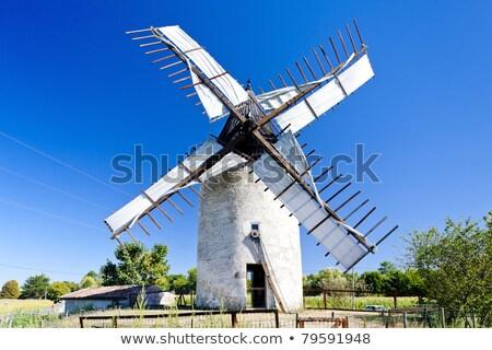 windmill vensac aquitaine france stock photo © phbcz