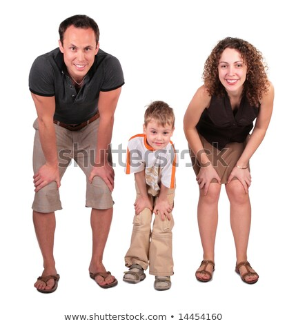 father, mother and son look having bent down Stock photo © Paha_L