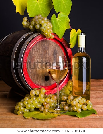 A little wine barrel and bottles wine Stock photo © deyangeorgiev