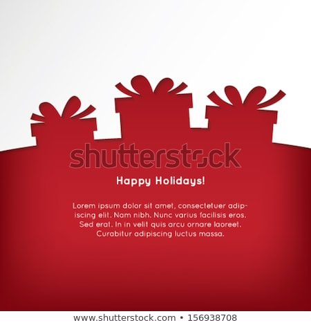 Vector Abstract christmas present silhouette Stock photo © orson