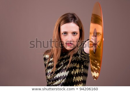 lány · bakelit · lemez · meztelen · padló · kéz - stock fotó © alexandrenunes