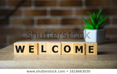 言葉 歓迎 キューブ カラフル ストックフォト © kbfmedia